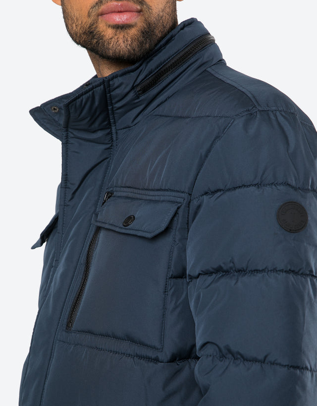 ancaster padded jacket with hidden hood