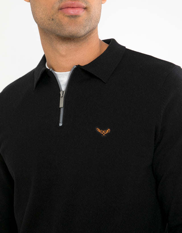 gelbeck cotton rich polo collar jumper