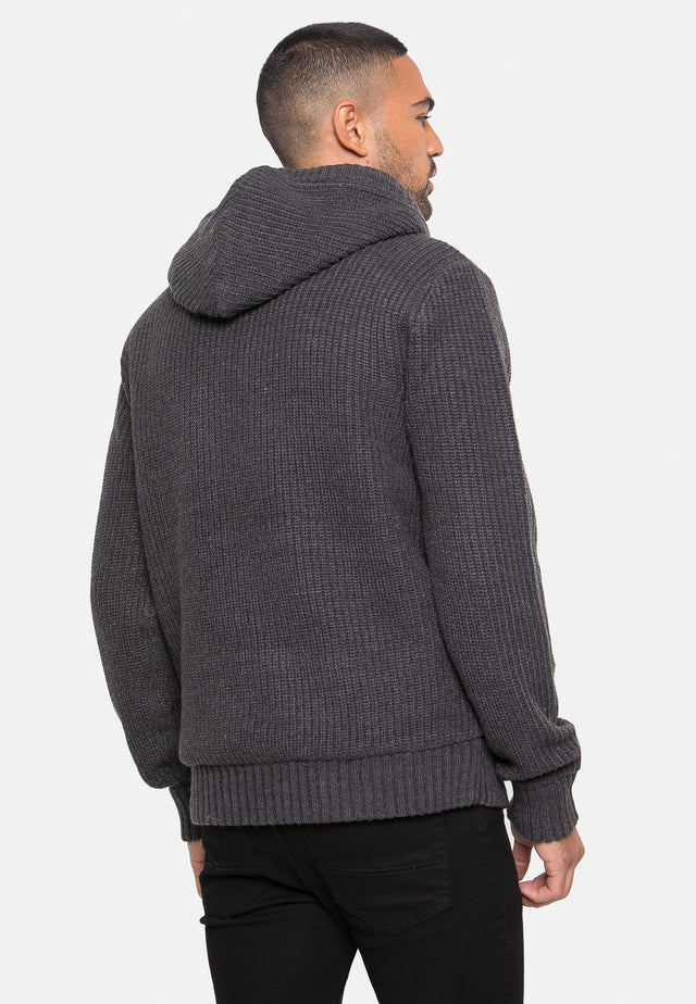 roma zip through hooded cardigan
