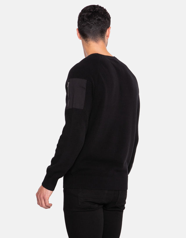 yan cotton crew neck jumper