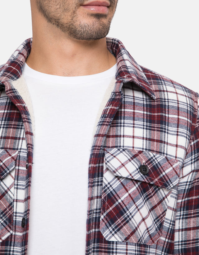 toulon borg lined check overshirt