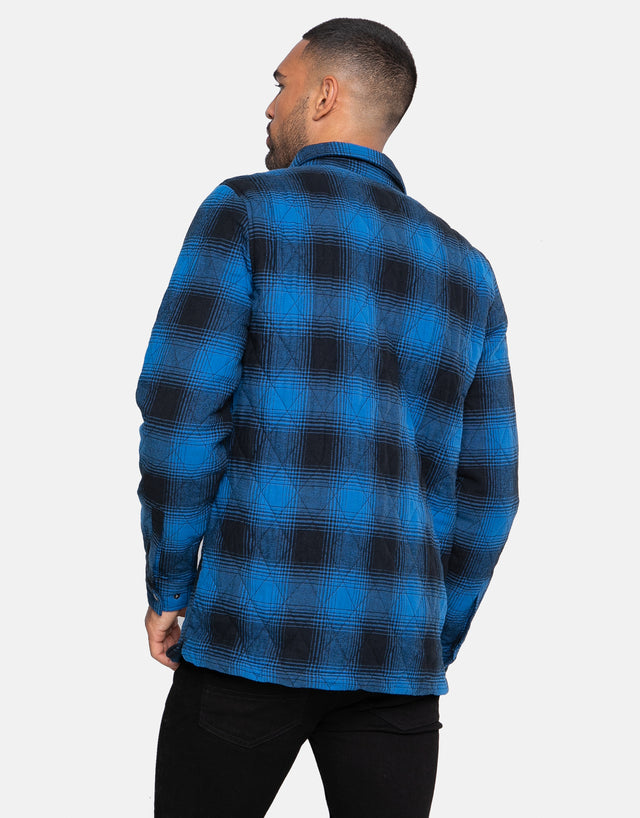 toronto quilted check overshirt