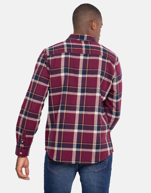 vandross cotton long sleeve check shirt