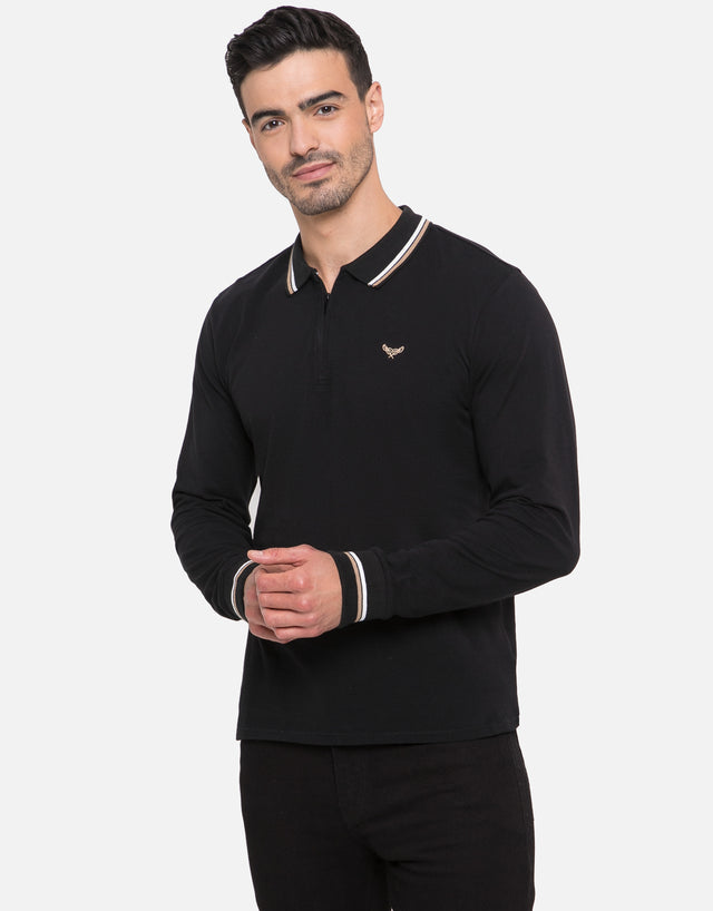 vinny long sleeve polo shirt