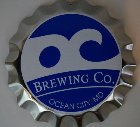 Oc Brewing Co. Unique Bottle Cap Beer Sign