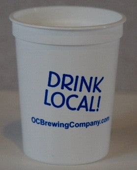 """Set of 4"" OC Brewing Co. 12 oz. Plastic Cup"