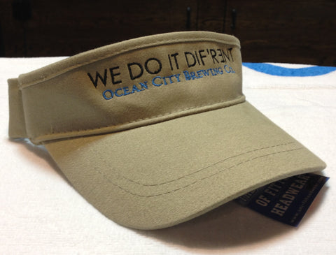 "OC Brewing Co. Olive ""WE DO IT DIF'R3NT"" Visor"