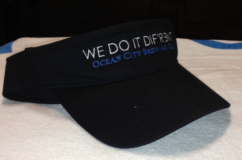 "OC Brewing Co. Black ""WE DO IT DIF'R3NT"" Visor"