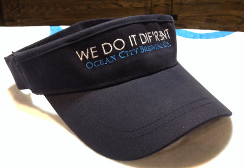 "OC Brewing Co. Navy ""WE DO IT DIF'R3NT"" Visor"