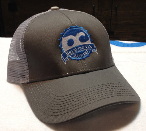 OC Brewing Co. Grey Mesh Baseball Hat Cap