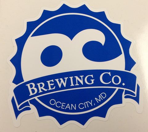 OC Brewing Co. Official Logo 3 inch Vinyl Car Sticker
