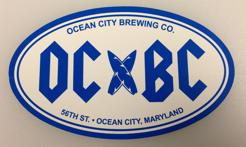 OC Brewing Co. OCBC Rock 3x5 Oval Sticker