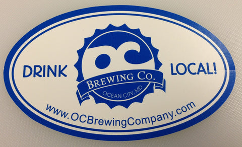 OC Brewing Co. Drink Local White 3x5 Oval Sticker