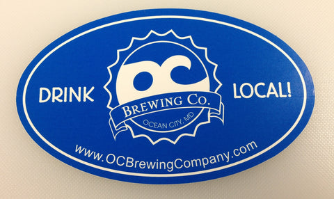 OC Brewing Co. Blue 3x5 Oval Sticker