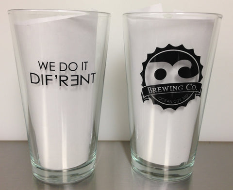 OC Brewing Co. WE DO IT DIF'R3ENT 16 oz. Pint Glass