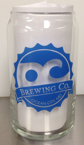 OC Brewing Co. Official Beer Can Glass