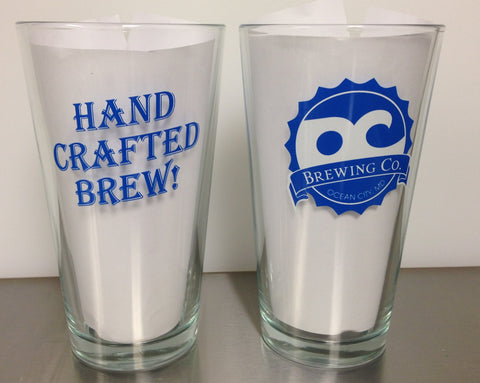OC Brewing Co. HAND CRAFTED BREW 16 oz. Pint Glass