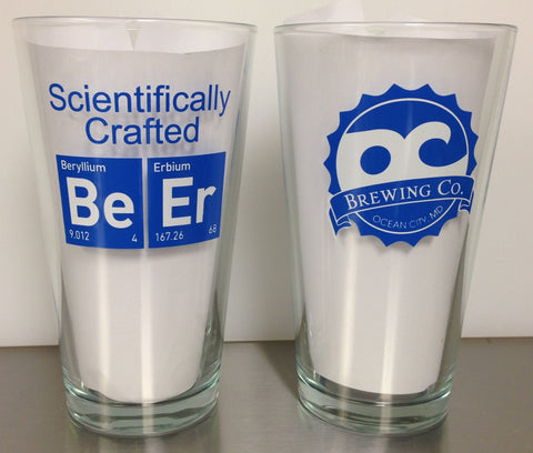 OC Brewing Co. SCIENTIFICALLY CRAFTED 16 oz. Pint Glass