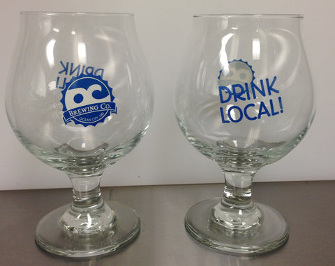 OC Brewing Co. Official Drink Local Belgium Beer Glass