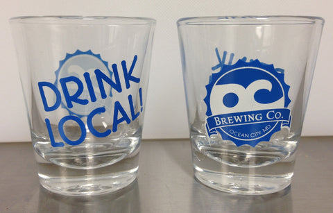 OC Brewing Co. Official Drink Local Shot Glass
