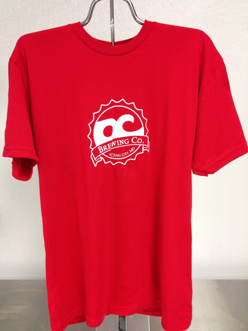 OC Brewing Co. Soft Style Red Logo T-Shirt