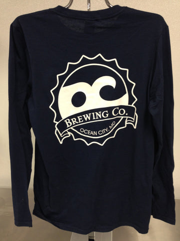 OC Brewing Co. Official Navy Long Sleeve T-Shirt