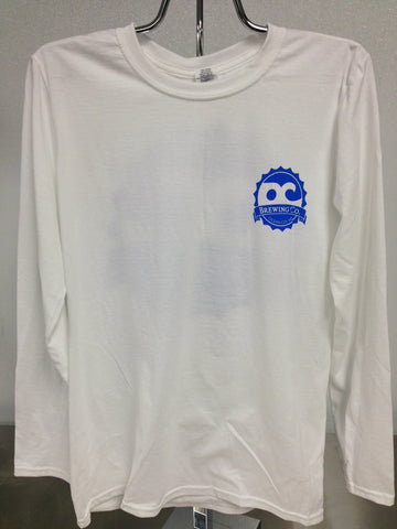 OC Brewing Co. Official White Long Sleeve T-Shirt