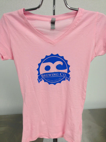 OC Brewing Co. Soft Style Ladies Pink Logo T-Shirt