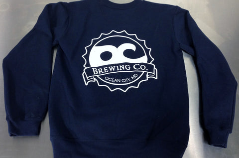 OC Brewing Co. Official Navy Crew Neck Sweatshirt