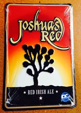 Joshua's Red Irish Ale Embossed Metal/Tin Sign