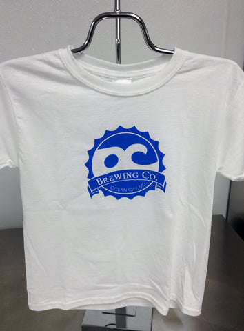 OC Brewing Co. Official White Kids Logo T-Shirt