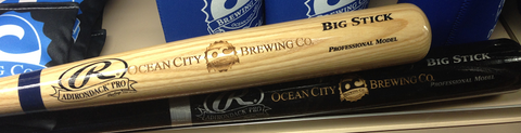 Laser Engraved Commemorative Black & Tan Rawlings Full Size Bats