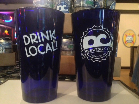 "Colbalt Blue ""Drink Local"" OC Brewing Co. 16oz. Pint Glass"