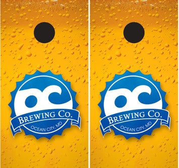 Official Ocean City Brewing Company Cornhole Set