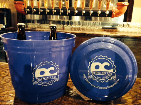OC Brewing Co. Beer Ice Bucket Cooler & Frisbee