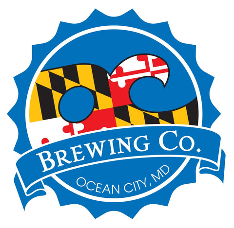 OC Brewing Co. Official MD Logo 3 inch Vinyl Car Sticker