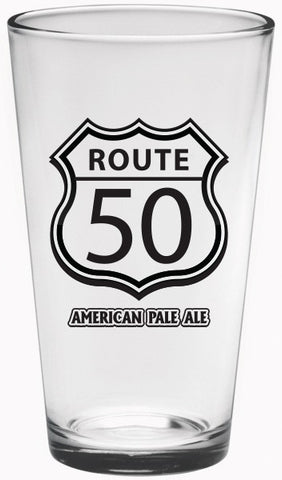 ROUTE 50 AMERICAN PALE ALE 16oz. PINT GLASS