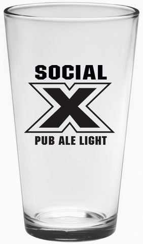 SOCIAL X PUB ALE 16 oz. PINT GLASS