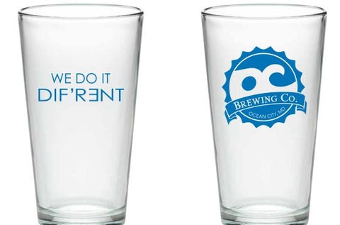 WE DO IT DIF'R3NT PINT GLASS - BLUE PRINT