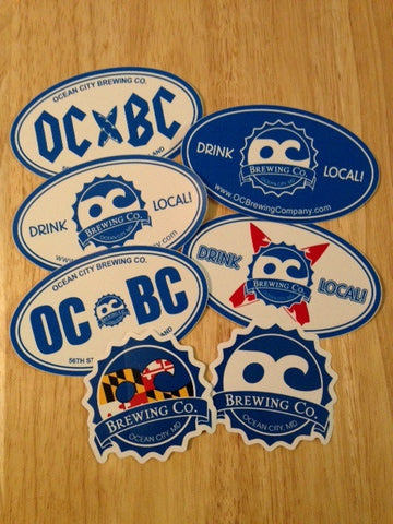 Official OC Brewing Company Set of (7) Stickers
