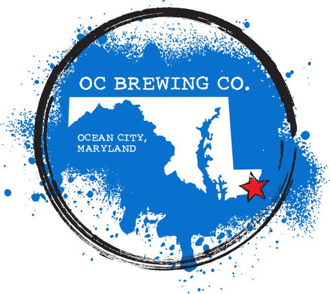 Official Ocean City Brewing Company Maryland State Navy Blue T-Shirt