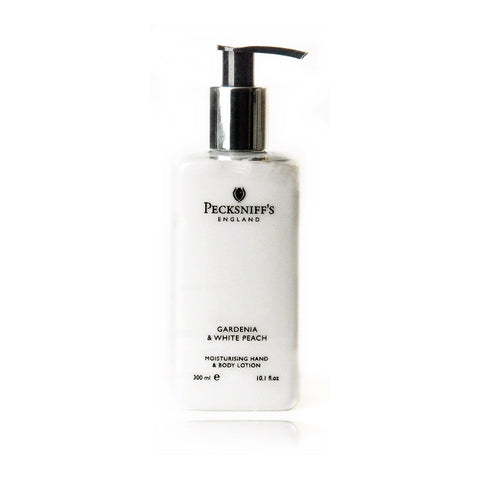 Pecksniff's Gardenia & White Peach Moisturising Hand & Body Lotion  300ml