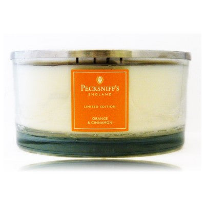 Pecksniffs Limited Edition Large 4 Wick Orange & Cinnamon Candle