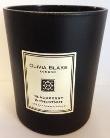 Olivia Blake Mandle Chestnut & Blackberry  Fragranced Jar Candle