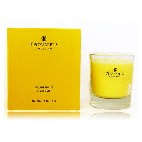 Pecksniff's Grapefruit & Citron Tea Fragranced Candle 180g