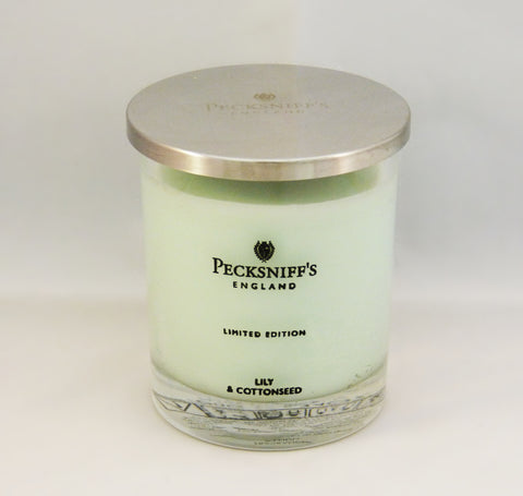 Pecksniffs Lily & Cottonseed Single Wick Candle