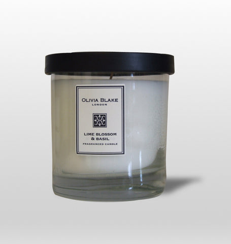 Olivia Blake Lime Blossom & Basil Fragranced Jar Candle  190g
