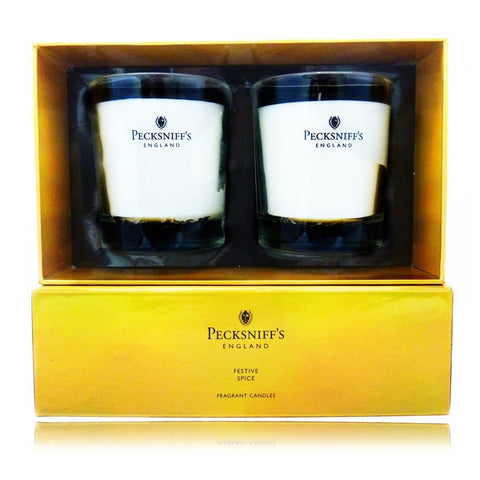 Pecksniff's Festive Spice  Duo  Candle Set