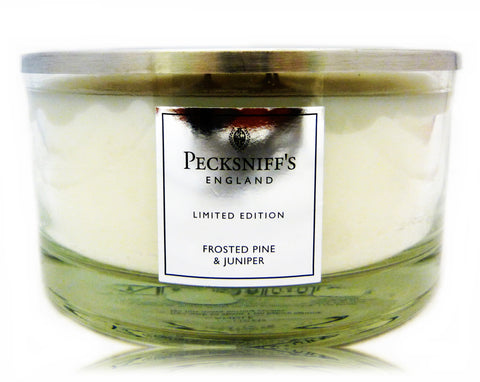 Pecksniffs Limited Edition Large 4 Wick Frosted Pine & Juniper Candle