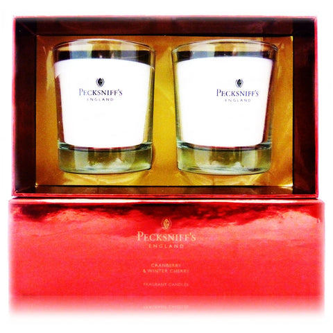 Pecksniff's Cranberry & Winter Cherry Duo  Candle Set